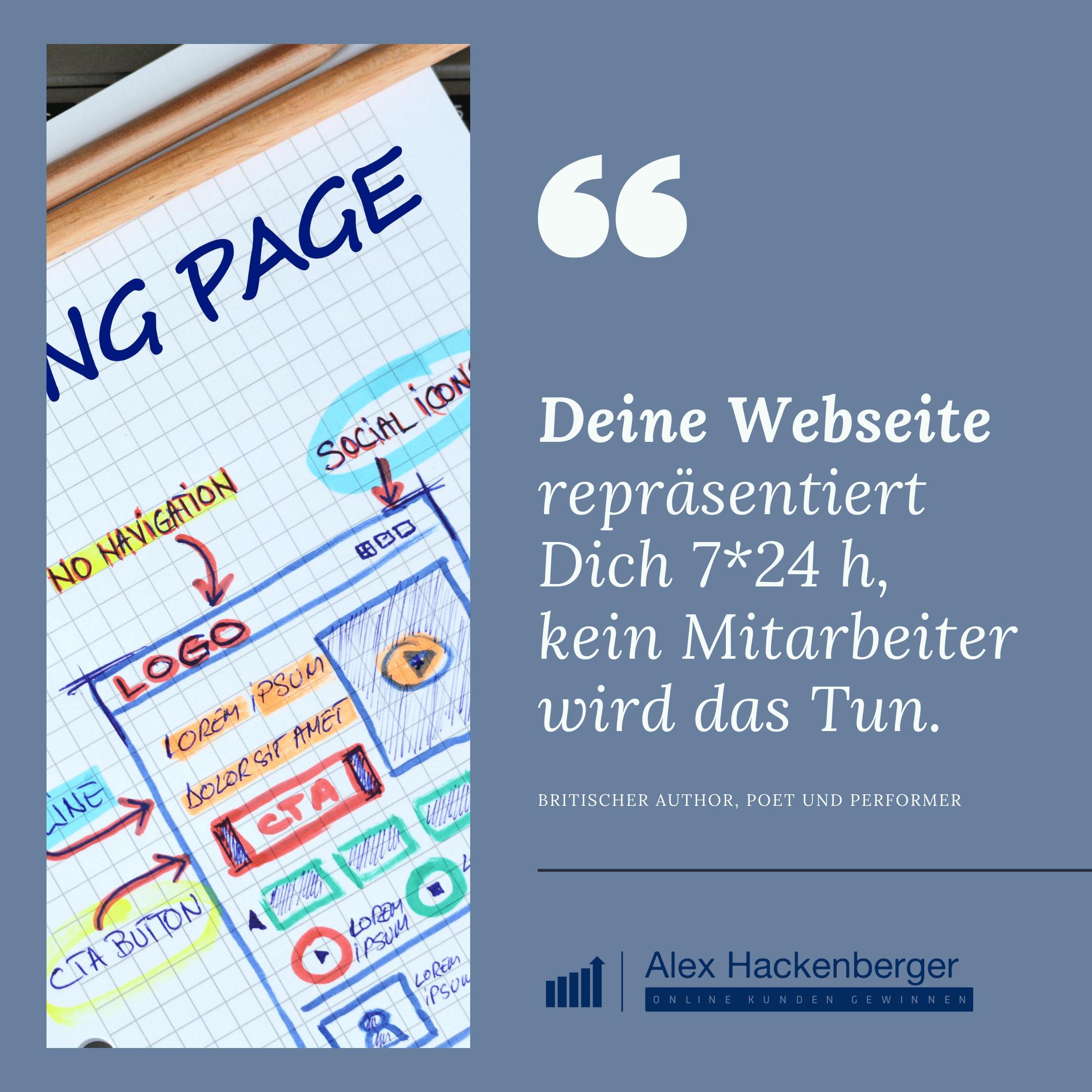 Alex Hackenberger - Deine Webseite repräsentiert Dich 24h - Online Marketing