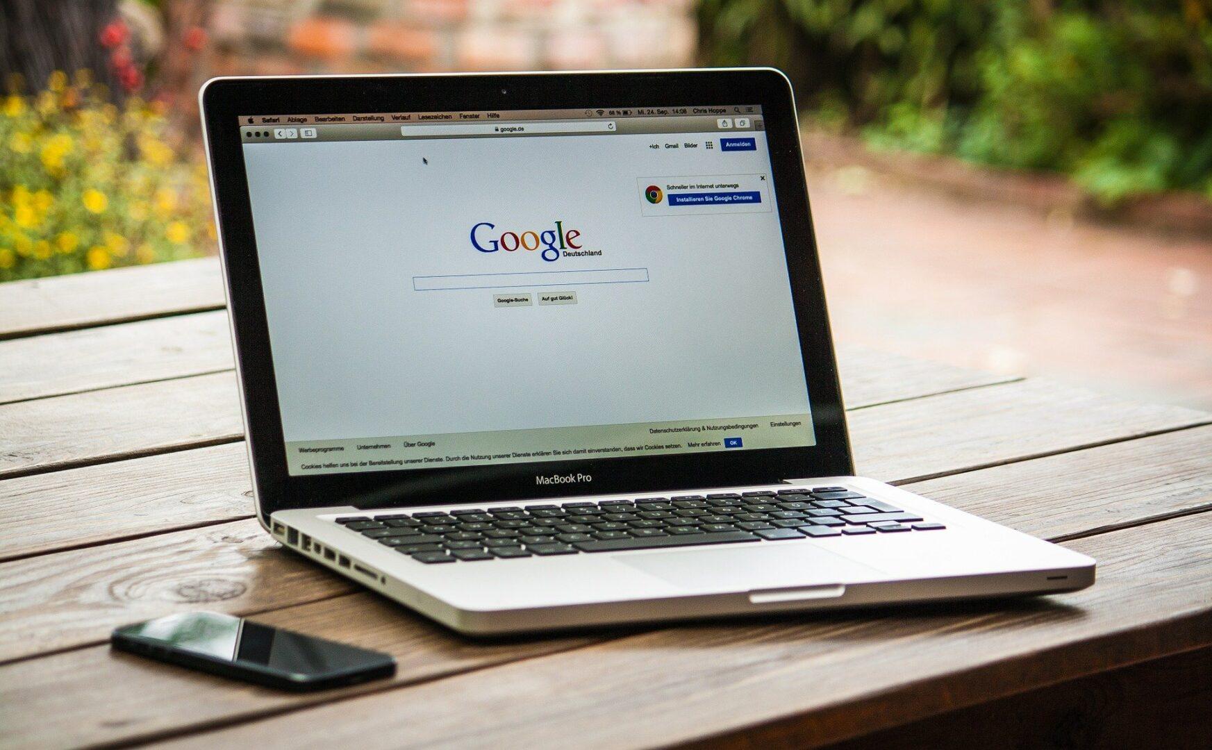Google Online Check - Suche auf Mac